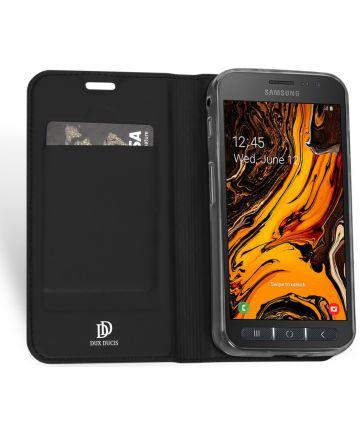 Dux Ducis Premium Book Case Samsung Galaxy Xcover 4(S) Hoesje Zwart