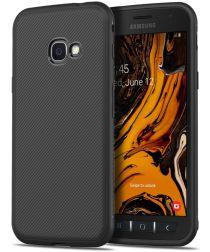 Samsung Galaxy Xcover 4(S) Twill Slim Texture Backcover Zwart