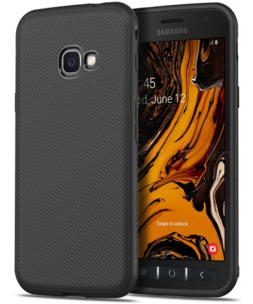 Samsung Galaxy Xcover 4(S) Twill Slim Texture Backcover Zwart Hoesjes