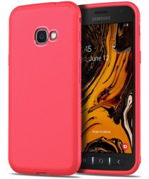 Samsung Galaxy Xsover 4(S) Twill Slim Texture Backcover Rood