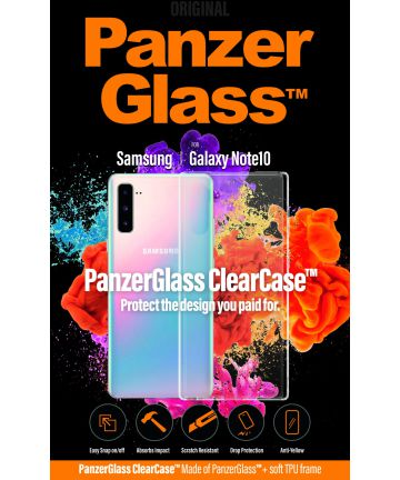 Panzerglass Samsung Galaxy Note 10 ClearCase Transparant Hoesje Hoesjes