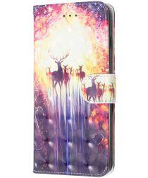 LG K50 Portemonnee Hoesje met Herten Print