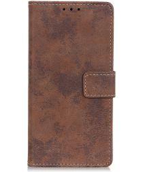 LG K50 Vintage Portemonnee Hoesje Bruin