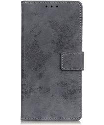 LG K50 Vintage Portemonnee Hoesje Grijs