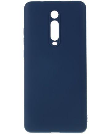 Xiaomi Redmi Mi 9T Siliconen Hoesje Donker Blauw