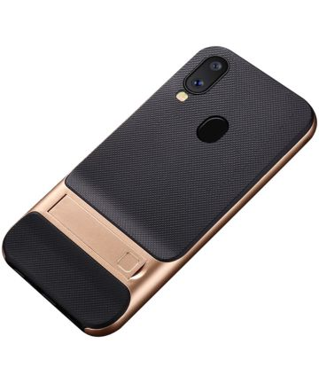 Samsung Galaxy A40 Stijlvol Hybride Kickstand Hoesje Goud Hoesjes