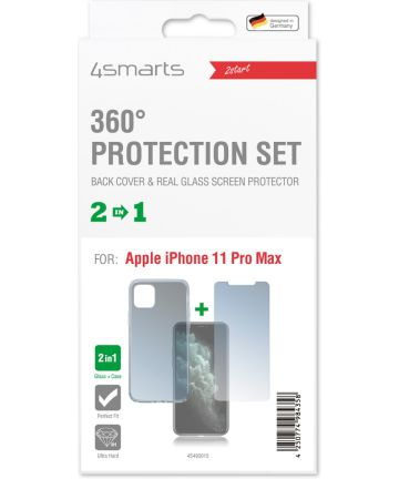 4smarts 360° Protection Cover Apple iPhone 11 Pro Max Transparant Hoesjes