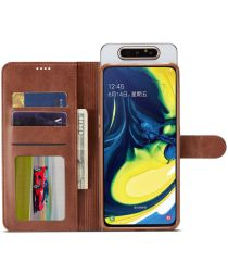 Samsung Galaxy A80 Stand Portemonnee Bookcase Hoesje Donkerbruin