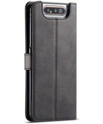 Samsung Galaxy A80 Stand Portemonnee Bookcase Hoesje Zwart