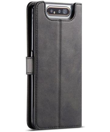 Samsung Galaxy A80 Stand Portemonnee Bookcase Hoesje Zwart Hoesjes