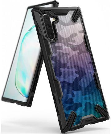 Ringke Fusion X Samsung Galaxy Note 10 Hoesje Camo Zwart Hoesjes