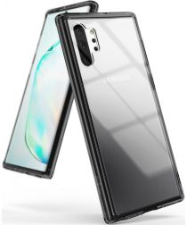 Ringke Fusion Samsung Galaxy Note 10 Plus Hoesje Smoke Black