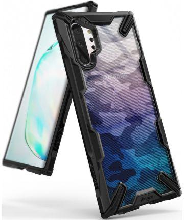 Ringke Fusion X Samsung Galaxy Note 10 Plus Hoesje Camo Black Hoesjes