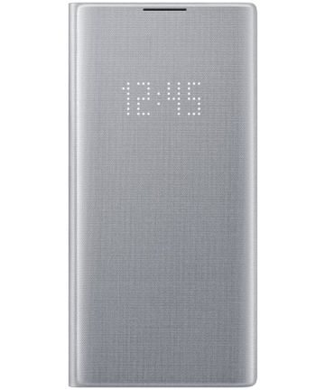 Samsung Galaxy Note 10 LED View Cover Zilver Hoesjes