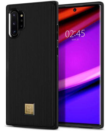 Spigen La Manon Classy Hoesje Samsung Galaxy Note 10 Plus Zwart Hoesjes