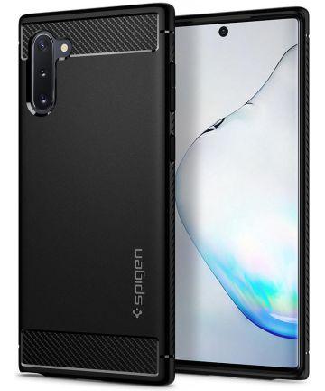 Spigen Rugged Armor Hoesje Samsung Galaxy Note 10 Zwart Hoesjes
