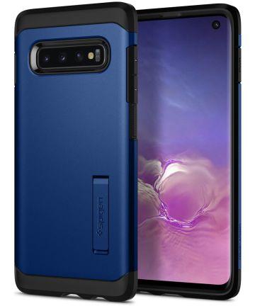 Spigen Tough Armor Hoesje Samsung Galaxy S10 Blauw Hoesjes