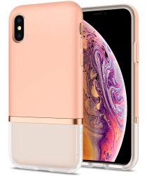 Spigen La Manon Jupe Hybride Hoesje Apple iPhone X(S) Roze