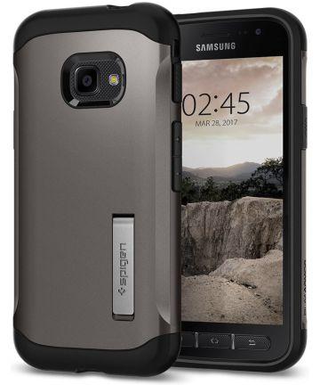 Spigen Slim Armor Hoesje Samsung Galaxy Xcover 4(S) Gunmetal Hoesjes