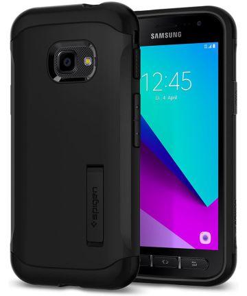 Spigen Slim Armor Hoesje Samsung Galaxy Xcover 4(S) Zwart Hoesjes