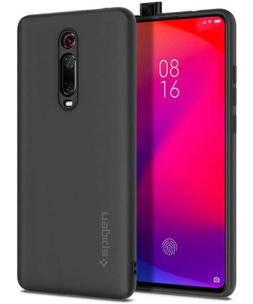 Spigen Silicone Fit Xiaomi Mi 9T (Pro) Hoesje Zwart