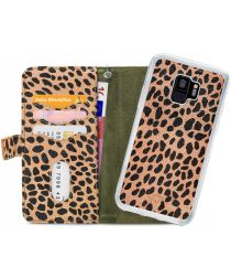 Mobilize Gelly Wallet Zipper Samsung Galaxy S9 Hoesje Olive Leopard