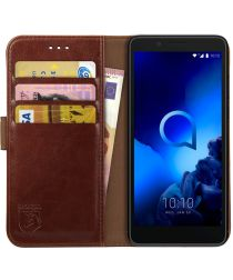 Rosso Element Alcatel 1C (2019) Hoesje Book Cover Bruin