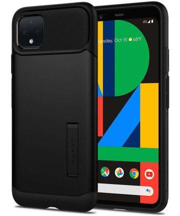 Spigen Slim Armor Hoesje Google Pixel 4 XL Zwart Hoesjes