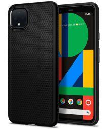 Spigen Liquid Air Back Cover Hoesje Google Pixel 4 Zwart