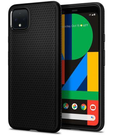 Spigen Liquid Air Back Cover Hoesje Google Pixel 4 Zwart Hoesjes
