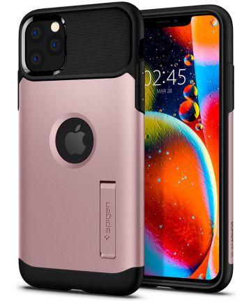 Spigen Slim Armor Hoesje Apple iPhone 11 Pro Max Roze Goud Hoesjes