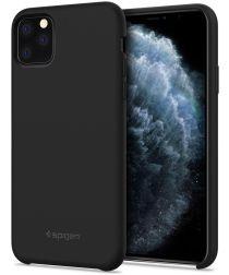 Spigen Silicone Fit Apple iPhone 11 Pro Max Hoesje Zwart
