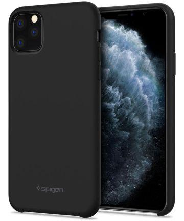 Spigen Silicone Fit Apple iPhone 11 Pro Max Hoesje Zwart Hoesjes