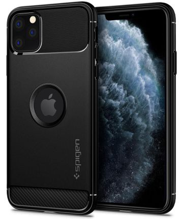 Spigen Rugged Armor Hoesje Apple iPhone 11 Pro Max Zwart Hoesjes