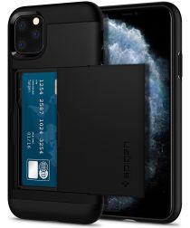 Spigen Slim Armor Card Slot Apple iPhone 11 Pro Max Zwart