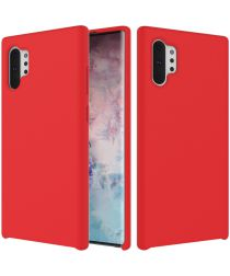 Galaxy Note 10 Plus Soft Siliconen Hoesje Rood