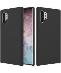 Galaxy Note 10 Plus Soft Siliconen Hoesje Zwart