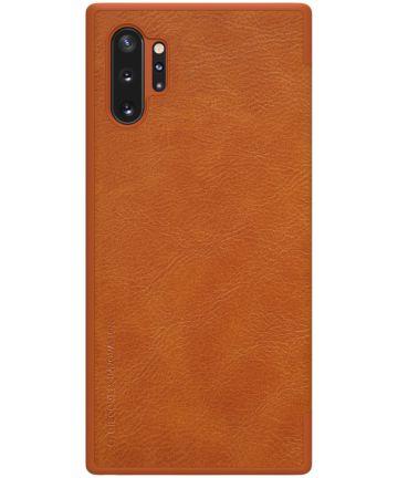 Nillkin Qin Series Flip Hoesje Samsung Galaxy Note 10 Plus Bruin Hoesjes