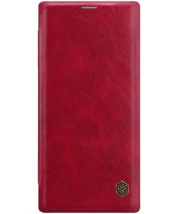 Nillkin Qin Series Flip Hoesje Samsung Galaxy Note 10 Rood Hoesjes