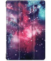 Samsung Galaxy Tab S6 Book Hoes met Print Cosmic Space