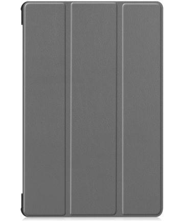 Samsung Galaxy Tab S6 Hoes Tri-Fold Grijs Hoesjes