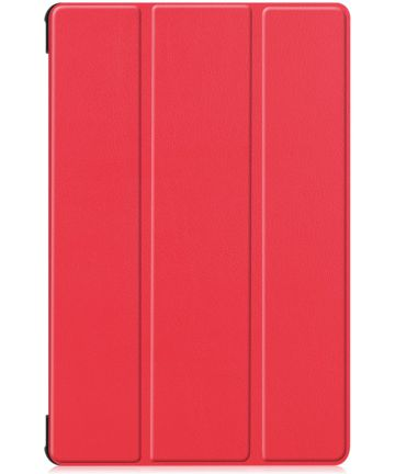 Samsung Galaxy Tab S6 Tri-Fold Hoes Rood Hoesjes