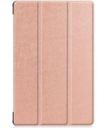 Samsung Galaxy Tab S6 Tri-Fold Hoes Roze Goud