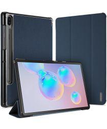 Dux Ducis Domo Series Samsung Galaxy Tab S6 Tri-fold Hoes Blauw