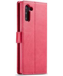 Samsung Galaxy Note 10 Leren Portemonnee Bookcase Hoesje Rood