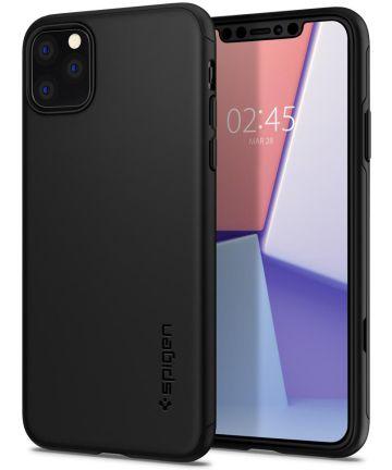 Spigen Thin Fit Classic Hoesje Apple iPhone 11 Pro Max Zwart Hoesjes