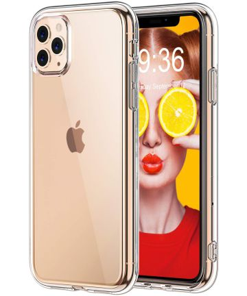 Apple iPhone 11 Pro Max Hoesje Armor Back Cover Transparant Hoesjes