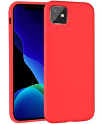 Apple iPhone 11 Hoesje Full Covered Siliconen Rood