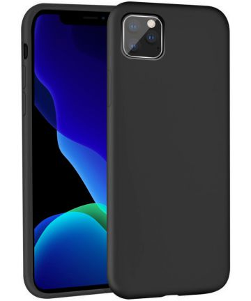 Apple iPhone 11 Pro Max Full Covered Siliconen Hoesje Zwart Hoesjes