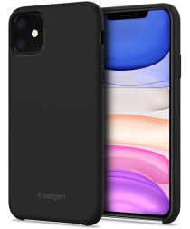 Spigen Silicone Fit Apple iPhone 11 Hoesje Zwart